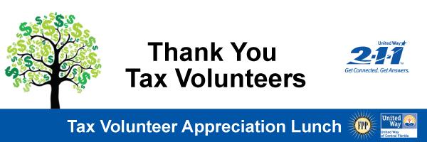 Tax Volunteer Appreciation Lunch